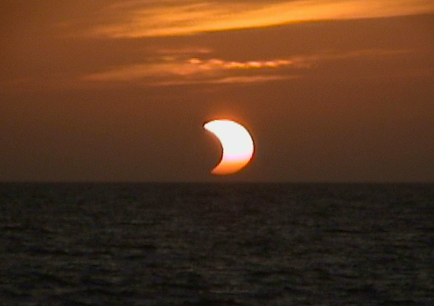 Eclipsed Sunset Partial Eclipse
