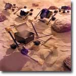 Bulldozer rover