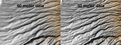 SRTM data samples of Tanzania